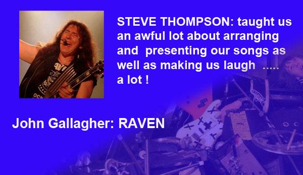 Picture of John Gallagher of Raven. Endorsement for Steve Thompson